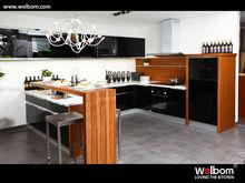 Contemporary Black Lacquer&MFC Kitchen Cabinet