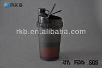 24OZ Plastic Sports Protein Nutrition Shaker Blender Drinking Bottle (SHK-006)