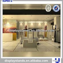 Custom made shiny stainless steel circular display stand