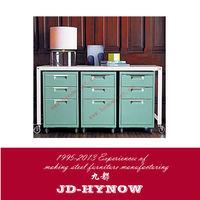 Home Office Furniture File Cabinet Mobile 3 Drawer Metal Lock