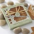 conjunto de 4 bambú coaster boda los mejores artículos de regalo