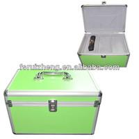 Empty plastic green first aid box