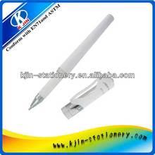 white plastic gift ball pen