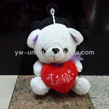 Stuffed soft plush bear with love heart nice gift toys New!