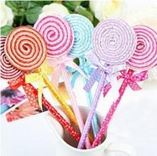 Wholesale Alibaba Lollipop Shape Funny Stylus Pen