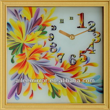 Antique wooden pendulum wall clock handcraft wall clock