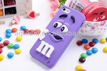 For IPhone 5S M&M Chocolate Candy Bean Lovely 3D Cute Silicon Case