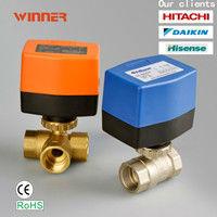 "motorized ball valve 3 way importing USA motor 3/4"""