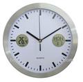 """Réveil-calendrier numérique 10"""" aluminium avec thermomètre"""