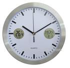 10'' Aluminium Digital Calendar Clock With Thermometer