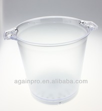 Hot Selling Crystal Plastic Ice Mop Bucket