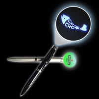 led projector light pen,promotional gifts led logo ballpen torch