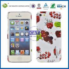 C&T Cherrys Print case for iphone 5 fruit phone sticker