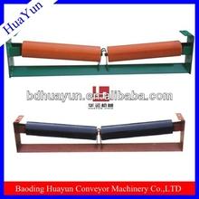 Tapered conveyor drive roller/welding machine shock absorbers