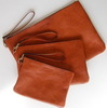Top quality cow leather laptop sleeves cases with zipper closure