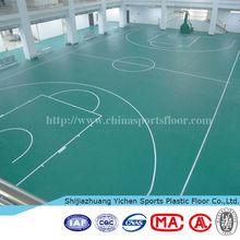 custom pvc /vinyl flooring material removable basketball court