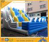 Hot sale blue wave inflatable large slide