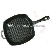 Seasoned cast iron chef skillet