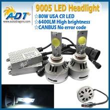 The New 5rd generation 80w 6400lm Car LED Conversion kit 9005 single beam 6000K LED Headlight Kit for cars
