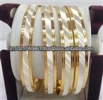 1 gram gold plated bangle jewelty white finish