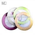 Venda quente colorido borda carregador placa de vidro