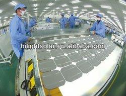 Mono solar panel 130W 12v TUV,IEC,CEC,CE,ISO
