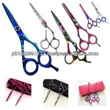 2015 new style Barber hair cutting thinning scissors/Razor Edge Multi Color