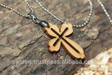 Olive Wood Cross Worn Next to Skin