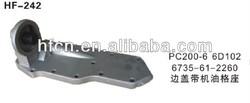 komatsu excavator parts for PC200-6 6D102 oil cooler cover 6735-61-2260