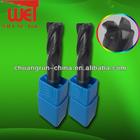 Dongguan CNC tool parts Short End Mill Sizes Corner Radius Carbide End Cutting Tools