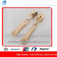 CD8371 Custom Gold Metal Fancy Zip Slider for Bags