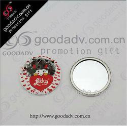 OEM factory round shape mini tinplate mirror