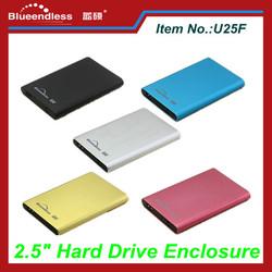 """2.5 Inch SATA Aluminum HDD Case 2.5"""" USB3.0 SSD Enclosure"""
