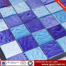 Pool tiles blue mosaic ceramic