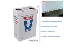 corrugated plastic recycle bin ,inkjet recycle bin,waste bin