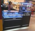 Alto brilho MDF e relógio de vidro armário de exposição e shopping mostrador do relógio contadores