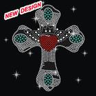 Beautiful hotfix motifs design cross acrylic stone I 1 42
