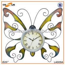 Papillon fer Art décoration horloge murale