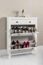 White wooden shoe storage cabinet/shoe storage cabinet design SC-01