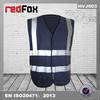 EN471 running navy blue warning polyester safety vest
