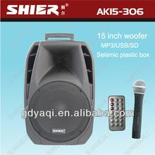 SHIER AK15-306 15inch portable 90Watt speaker device that changes voice good