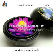 handicraft flowers made of soap