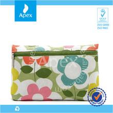 reuseable colorful canvas make up bag