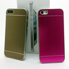 Popular silver edge metal back case brushed pattern for iphone 5 back cover
