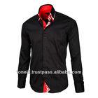 Triple Collar Black Dress Shirts for Men - Free Worldwide Shipping