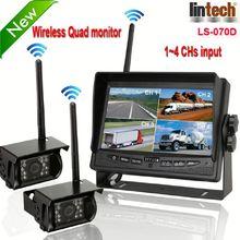 New! 7 inch digital wireless car black box camera dvr gps (LS-070D)