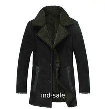 Custom Tailor Made FUR Genuine Blazer Pea Coat Sheep Skin Suede Leather Jacket