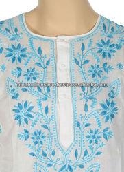 Embroidered Kurtis, lucknow chikan kurtis, handwork kurtis