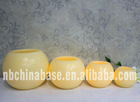 Distressed led ball wax candle yellow flickering
