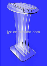 unique design edages polished acrylic/organic glass pulpit